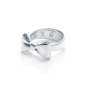 Stolen Girlfriends Club Silver Bow Tie Ring