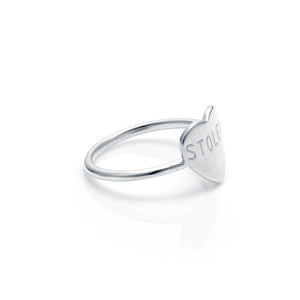 Stolen Girlfriends Club Silver Stolen Heart Ring