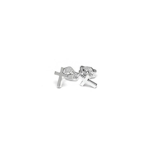 Silver Mini Cross Studs
