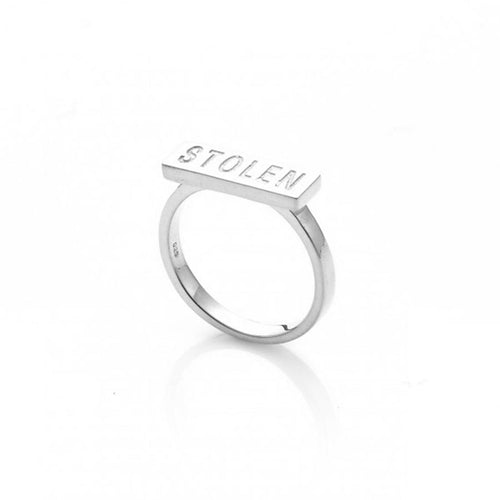 stolen Girlfriend Club Silver Stolen Essential Bar Ring
