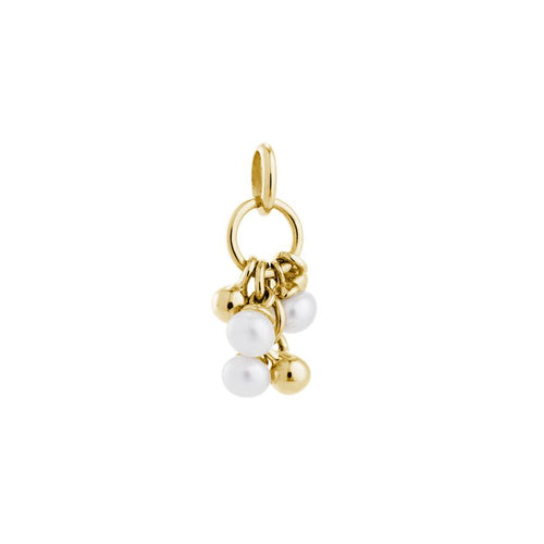18ct Yellow Gold Vermeil Plated Pearl Cluster Charm