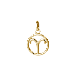 18ct Gold Plated Vermeil Aries Zodiac Charm