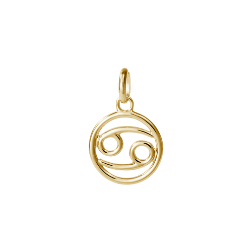 18ct Gold Plated Vermeil Cancer Zodiac Charm