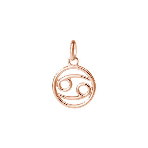 18ct Rose Gold Vermeil Plated Cancer Zodiac Charm