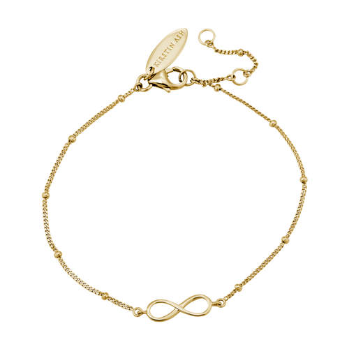 18ct Gold Plated Vermeil Infinity Symbol Bracelet