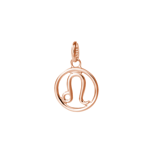18ct Rose Gold Vermeil Plated Leo Zodiac Charm