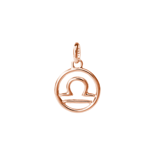 18ct Rose Gold Vermeil Plated Libra Zodiac Charm
