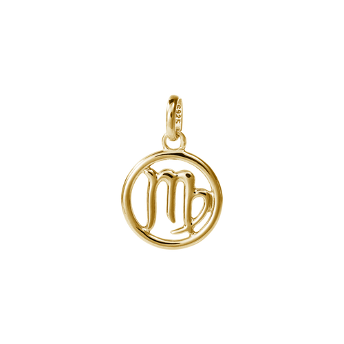 18ct Gold Plated Vermeil Virgo Zodiac Charm