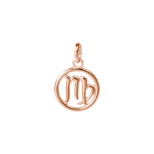 18ct Rose Gold Vermeil Plated Virgo Zodiac Charm