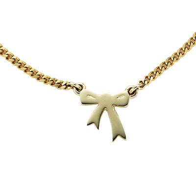 9ct Gold Mini Bow Necklace