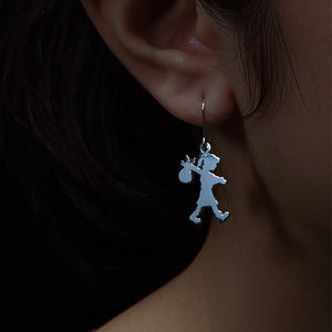 Silver Runaway Girl Earrings