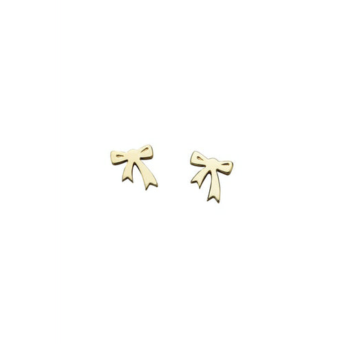 9ct Gold Mini Bow Earrings