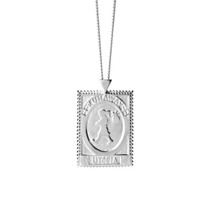 Silver Utopia Stamp Necklace