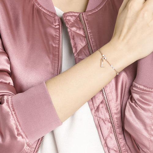 Remix Alphabet Charm Rose Gold Letter L