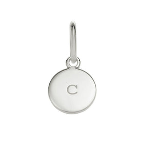 Silver C Circle Letter Charm