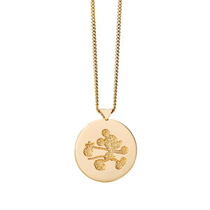 Gold Runaway Mickey Stamp Necklace