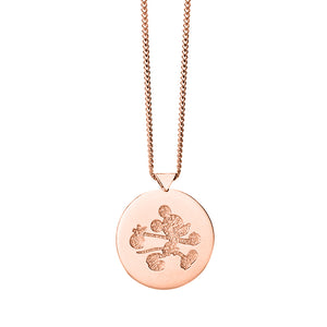 9ct Rose Gold Runaway Mickey Stamp Necklace