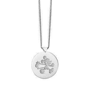 Silver Runaway Mickey Stamp Necklace