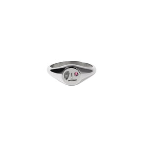 Sterling Silver Pink Sapphire Miro Signet Ring