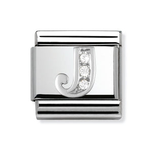 Stainless Steel and Silver Letter J Link