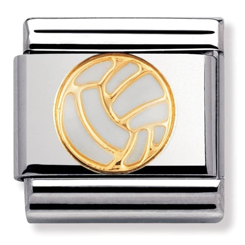 Stainless Steel and 18ct Gold Volley Ball Link