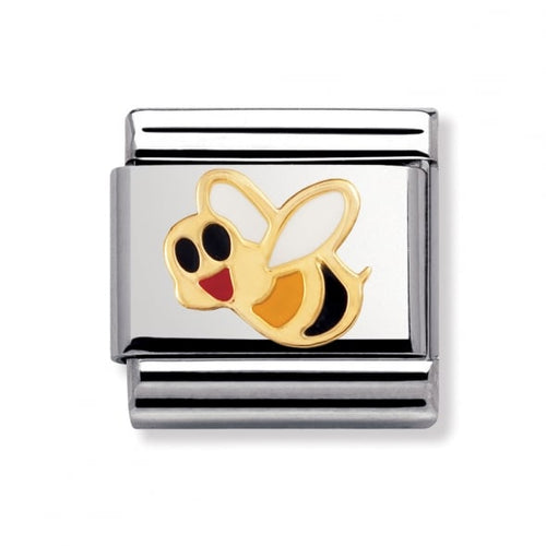 Stainless Steel and 18ct Gold Bee Link