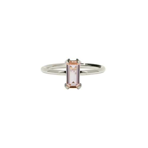 9ct White Gold Paloma ring - Morganite