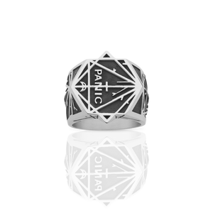 Silver Panic Ring - Oxidized