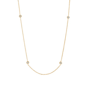 9ct Gold Indra Diamond Necklace