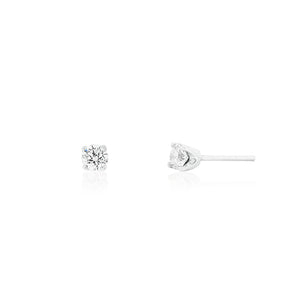 9ct White Gold Lumia Diamond Stud Earrings 2D=.50ct