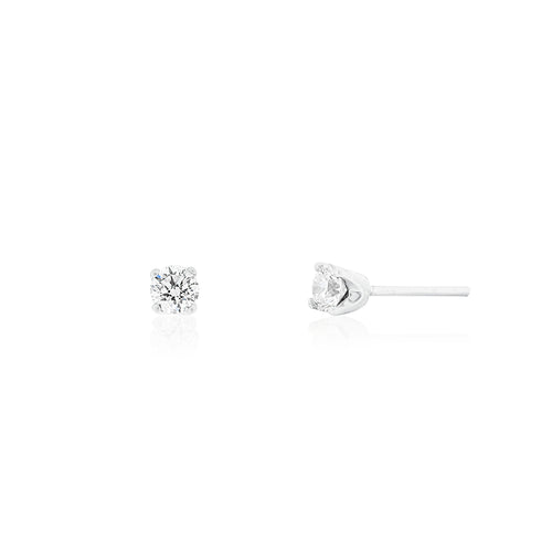 9ct White Gold Lumia Diamond Stud Earrings 2D=0.40ct