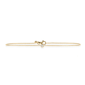 9ct Gold Droplet Diamond Bracelet