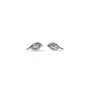 Sterling Silver Protéger Stud Earrings