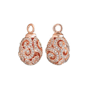 18ct Rose Gold Plated Imperial Earrings Attachments