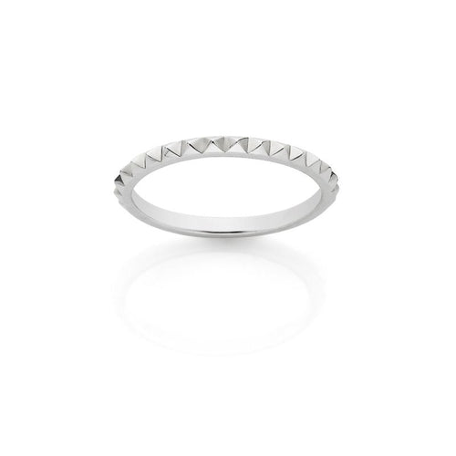 ML Fine Studded Stacking Ring