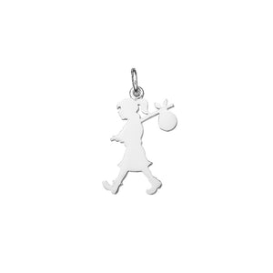 Silver Large Runaway Girl Charm