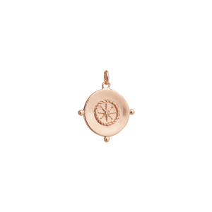 Rose Gold Plated Sail Away Coin Charm