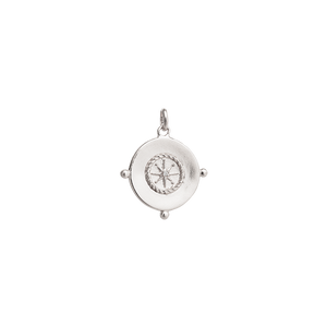 Silver Sail Away Coin Charm