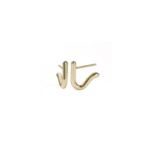 Gold Plated Sculpture Stud Earring