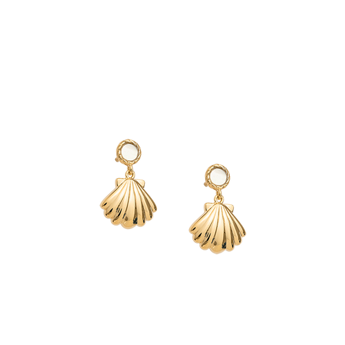 Gold Plated Seashell Earring