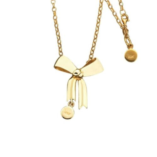 9ct Gold Bow Necklace