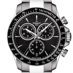 V8 and Chrono Black Mens Watch