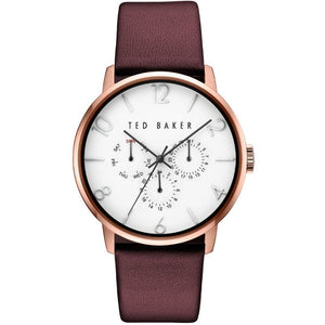 James Rose Gold White Dark Red Watch