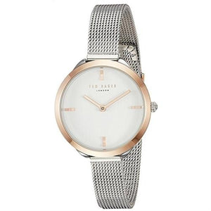 Elana Rose Gold and Silver Mesh Watch