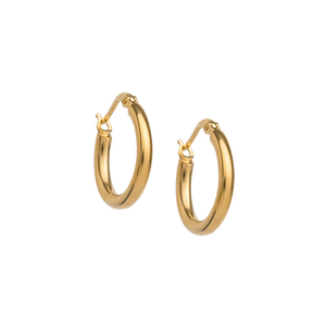 Gold Plated Tidal Hoop   Small
