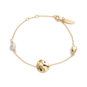 Gold Plated Tidal Pearl Bracelet