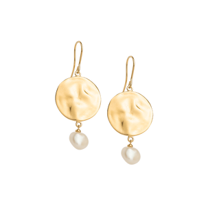 Gold Plated Tidal Pearl Earring
