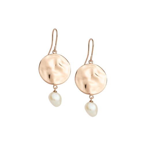 Rose Gold Plated Tidal Pearl Earring