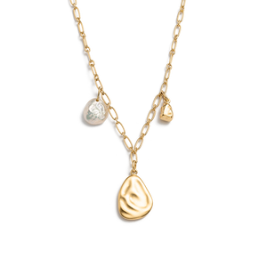 Gold Plated Tidal Pearl Necklace