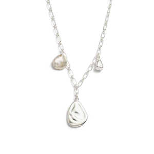 Silver Tidal Pearl Necklace